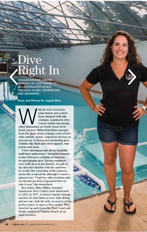 Lynnhaven Dive Center and Swim School - Coastal Virginia Business Magazine