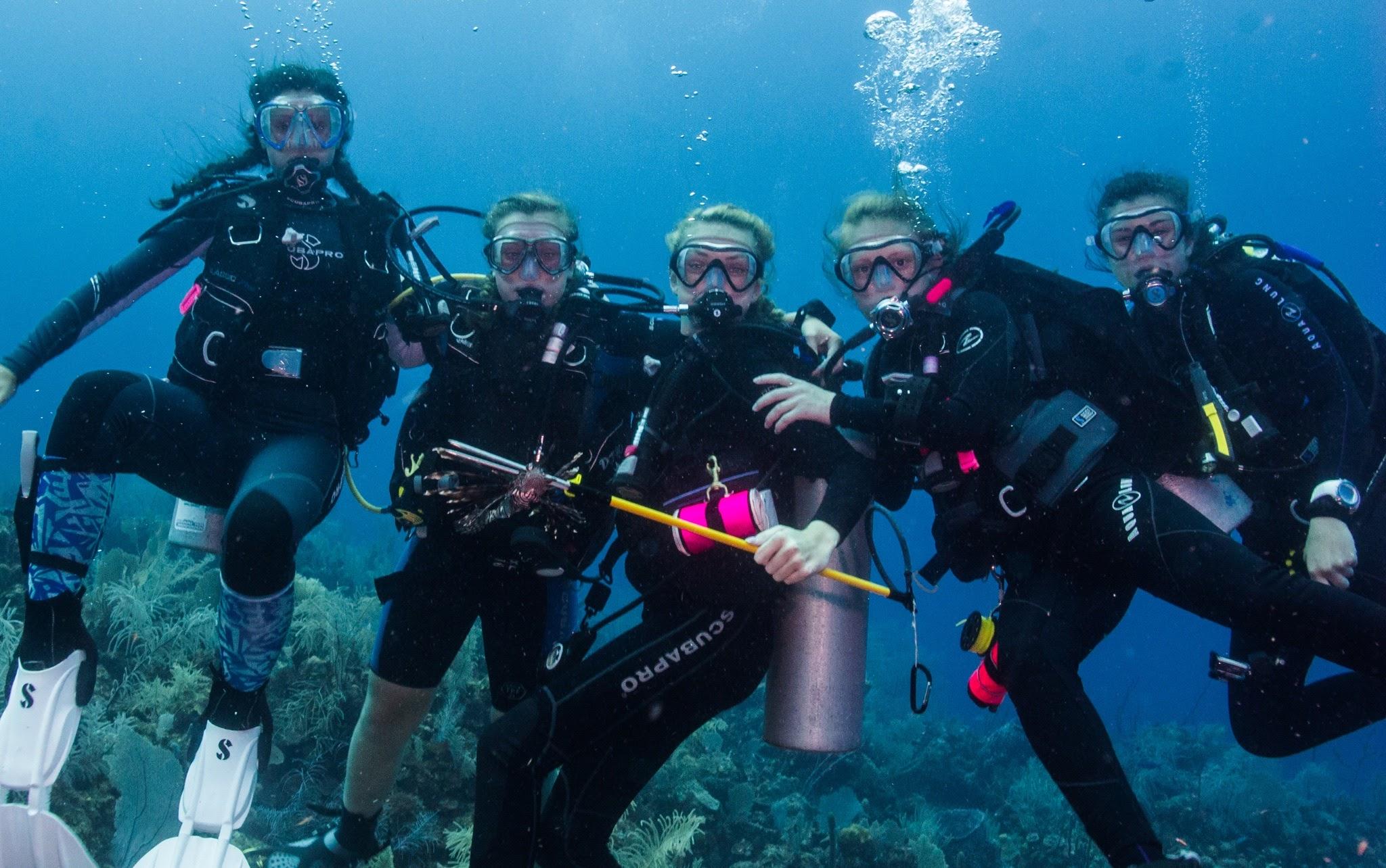 Scuba Squad diving Belize 2015 with Lynnhaven Dive Center